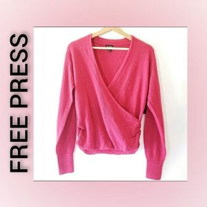 Free Press Long Sleeve Bright Fuchsia Sweater XXS